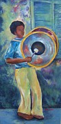 Drummer Mixed Media - Street Drummer by BJ Pinkston