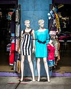 Dresses Digital Art - Street Fashion by Perry Webster