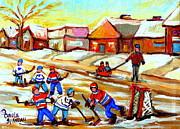 Street Hockey Thornhill Toronto Ontario Print by Carole Spandau