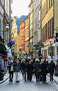 Urban City Areas Photos - Street in Gamla Stan - the old part of Stockholm - Sweden by David Hill