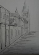 Street Drawings - Street In New Orleans by Christiane Schulze
