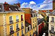Red Buildings Framed Prints - Street in Rennes Framed Print by Elena Elisseeva