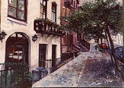 Walter Casaravilla - street in the Village NYC