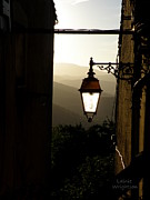 Provence Village Framed Prints - Street Lamp at Sunset Framed Print by Lainie Wrightson