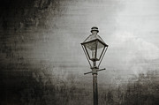 Brenda Prints - Street Lamp on the River Print by Brenda Bryant