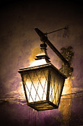 Night Lamp Framed Prints - Street lamp shining Framed Print by Michal Bednarek