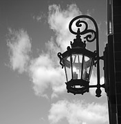 Iron  Framed Prints - Street lamp Framed Print by Tony Cordoza