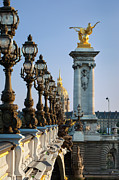 Invalides Framed Prints - Street Lamps - Paris Framed Print by Brian Jannsen