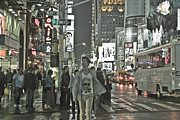Nyc Digital Art Originals - Street Life by Thomas Mack