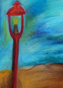 Street Pastels Originals - Street Light by Jon Kittleson