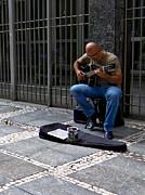 Street Musician - Sao Paulo Print by Julie Niemela