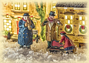 Christmas Village Framed Prints - Street Musicians Framed Print by Caitlyn  Grasso