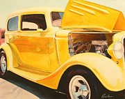 Cars Painting Framed Prints - Street Rod Framed Print by Robert Hooper