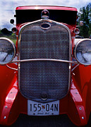 Red Street Rod Framed Prints - Street Rod Framed Print by Skip Willits