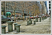 Skates Prints - street scene in New York City Print by Geri Scull
