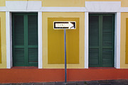 Puerto Rico Framed Prints - Street Sign in Old San Juan Framed Print by George Oze