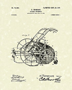 Street Drawings - Street Sweeper 1903 Patent Art by Prior Art Design