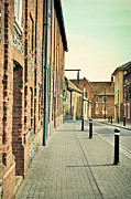 Brick Buildings Framed Prints - Street  Framed Print by Tom Gowanlock