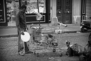 Poor People Metal Prints - Street Vendor Metal Print by Chevy Fleet