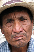 Old Man With Hat Framed Prints - Street Vendor Panajachel Framed Print by OpposableThumbnails EyeBrowses