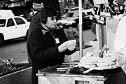 Break Fast Photos - Street Vendor Selling Hot Dogs New York City by Joe Fox