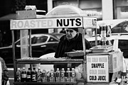 Service Dog Prints - Street Vendor Selling Roasted Nuts And Soft Drinks West 34th Street New York City Print by Joe Fox