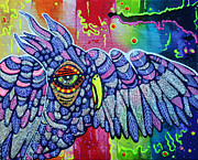 Graffiti Painting Posters - Street Wise Owl Poster by Laura Barbosa