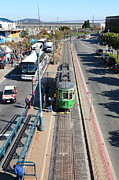 Bay Bridge Photos - Streetcar At Pier 39 San Francisco California 5D26073 by Wingsdomain Art and Photography