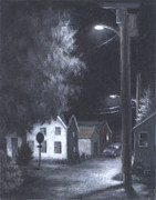 Streetlights Print by Steve Dininno