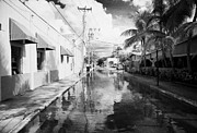 Flooding Framed Prints - Streets Flooded By Heavy Rainfall Key West Florida Usa Framed Print by Joe Fox