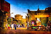 Streets Of An Egyptian Village Print by Mark Tisdale