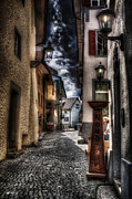 Medieval Posters - Streets of Baden Poster by Erik Brede