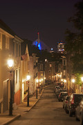 Gas Lamps Prints - Streets of Charlestown Print by Joann Vitali