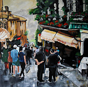 Streets Painting Originals - Streets of Italy by Vickie Warner