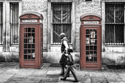 Retro Phone Photos - Streets of London by Erik Brede