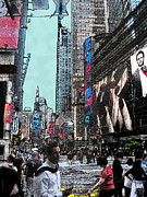 New York City Art - Streets of Manhattan by Mario  Perez