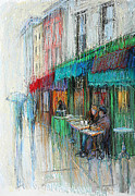 Macdougal Street Paintings - Streets of New York - Cafe Reggio by September McGee