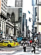 Streets Of Nyc 14 Print by Mario  Perez