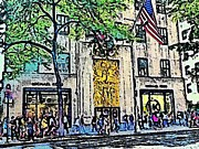 Streets Of Nyc 7 Print by Mario  Perez