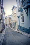 European Street Scene Prints - Streets of Old Quebec City Print by Edward Fielding