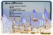 City Streets Prints - Streets of Philadelphia Print by Bill Cannon