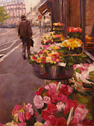 Cities Pastels - Streets of Psris by Ann Caudle