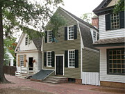 Clapboard House Prints - Streetscene Colonial Williamsburg Print by Christiane Schulze