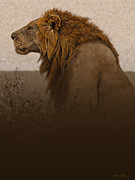 Lion Digital Art Metal Prints - Strength Metal Print by Aaron Blaise