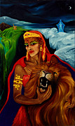 Warrior Goddess Paintings - Strength by An-Magrith Erlandsen