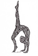Athletic Drawings - Strength by Melissa Sherbon