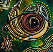 Healing Art Paintings - Strength Spirit Eye by Deborha Kerr