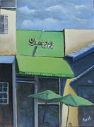 Cloudy Day Paintings - Stretchs Cafe by Paintings by Parish