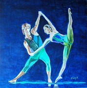 Ballet Dancers Drawings - Strike a Pose by Judy Kay