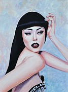 Posh Painting Prints - Strike a Pose Print by Shirl Theis